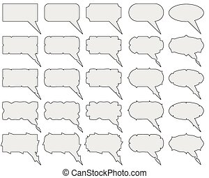 Thought, Speech Bubbles Set