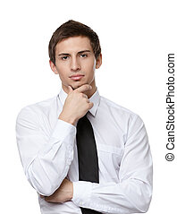 Thoughtful business man
