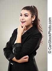 Thoughtful businesswoman closeup