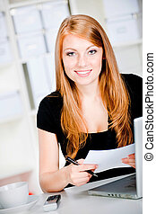 Thoughtful Caucasian Woman - An attractive caucasian woman ...