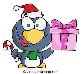 Thoughtful Christmas Penguin
