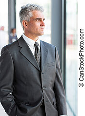 thoughtful mature businessman