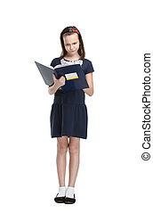 Thoughtful schoolgirl