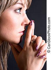 Thoughtful woman portrait