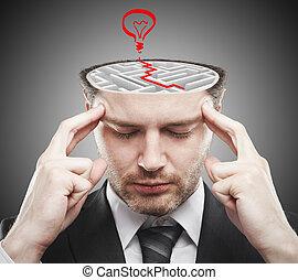 Brainstorming ideas concept