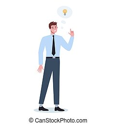 Thoughtfull business people. Man thinking in search of solutions