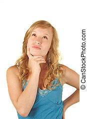 Thoughtfully Person - A young thoughtfully woman. All ...