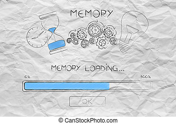 progress bar loading with memory icon made by light bulb...