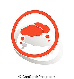 Thoughts sign sticker, orange