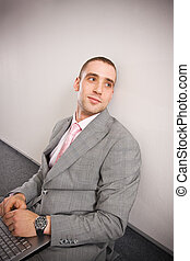 Thoughts - Thoughtful man in formal dress sitting on the...
