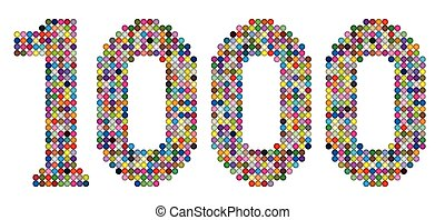 Thousand Balls Dots Points Number