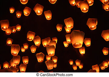 Thousands of lanterns fill the sky at the 2017 Pingxi Sky Lantern Festival in Taiwan