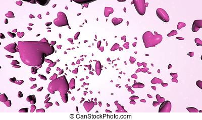 Thousands Pink 3D Hearts