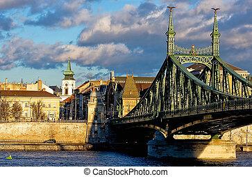 Thre Franz-Josef bridge in Budapest
