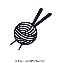 Thread ball and needle icon