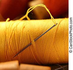 Thread bobbins with needle
