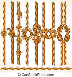 Thread Illustration - Brown Rope Borders