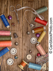 Thread - Instruments of repairman clothing