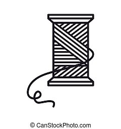 Thread roll and needle icon
