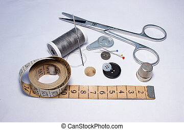 Thread, sewing and tools for handmade 3