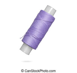 thread spool isolated on white background