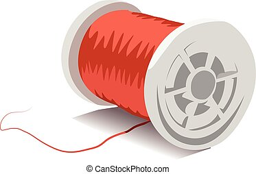 Thread spool realistic vector illustration isolated