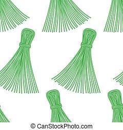 Thread tassel pattern - Seamless pattern of the thread...