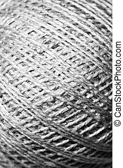 Thread texture background black and white