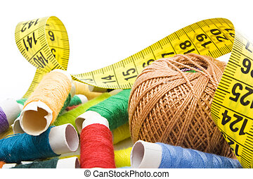 thread with measuring tape
