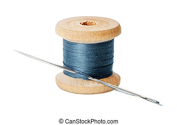 Thread with needle, Old coils