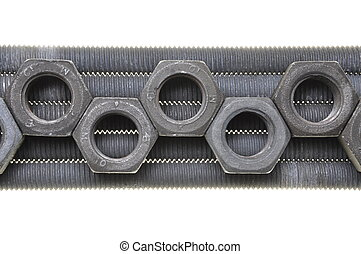 Threaded bolts and nuts, order and organization