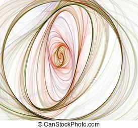 Threaded Twist Abstract - Threaded, multicolor circular...
