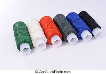 Threads on white