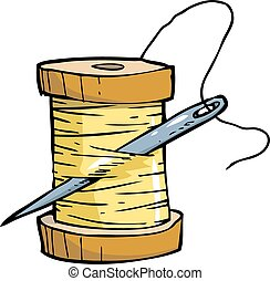 Threads with a needle