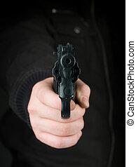 threat at gunpoint
