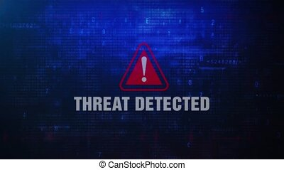 Threat Detected Alert Warning Error Message Blinking on...