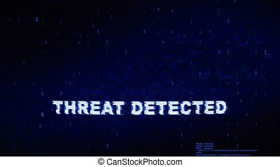 Threat Detected Text Digital Noise Twitch Glitch Distortion...