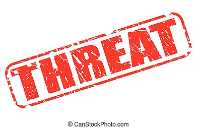 Threat red stamp text