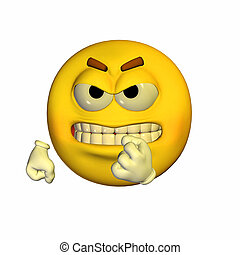 Threatening Emoticon - Illustration of a threatening...
