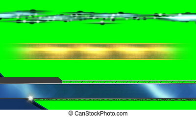 Three Looping Abstract Lower Thirds on Green Screen
