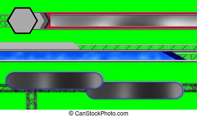 Three Abstract Lower Thirds R55