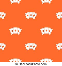 Three aces playing cards pattern seamless