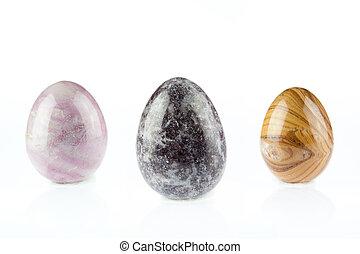 Three Agate egg shape
