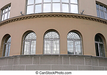 Three Arch Windows With Protection Safety Bars