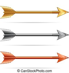 Arrows isolated on a white background