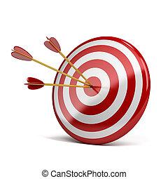 three arrows in target