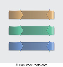 Three arrows on light background