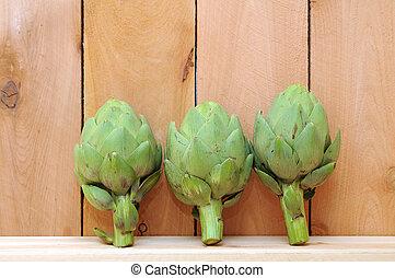 Three artichoke