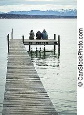 three at the jetty