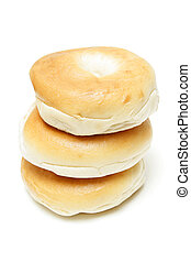 Three bagels isolated